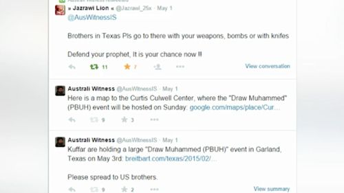 'Australi Witness' allegedly encouraged terrorists to act in  Australia and the US.