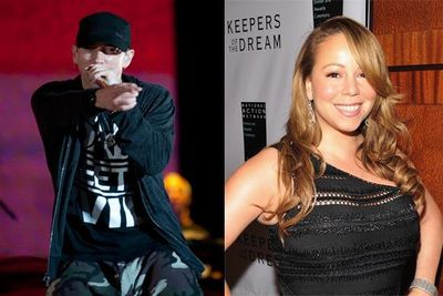 "There's nothing like dissing an ex to kick off a good barney. But not too many of them spawn a number of hit singles.<br/>Eminem first dissed Mariah on his 2002 song ""Superman"", and the row has continued ever since, with each artist offering their own disses against the other on all of their subsequent albums. Mariah had the last word with her single, ""Obsessed"", and despite Eminem's best efforts he hasn't managed to top that in the charts yet."