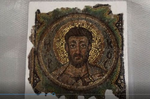 The 1600-year-old mosaic of St Mark was stolen from Cyprus in the 1970s,