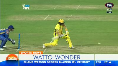 Shane Watson scores Indian Premier League century for Chennai Super Kings