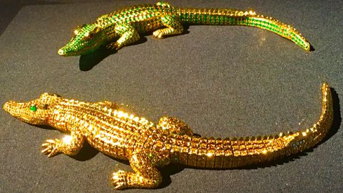 A dazzling pair of Cartier crocodiles. (9NEWS)