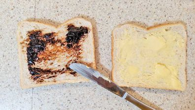 The offending Vegemite sandwich