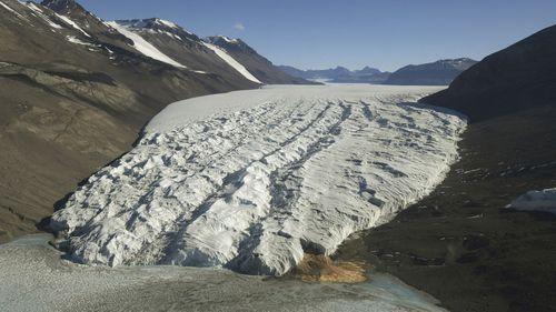 2016 file photo shows the Taylor Glacier near McMurdo Station, Antarctica.