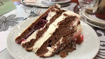And the verdict on the taste test of the Black Forest cake: