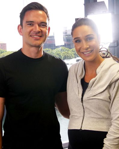 Sam Downing and Kayla Itsines