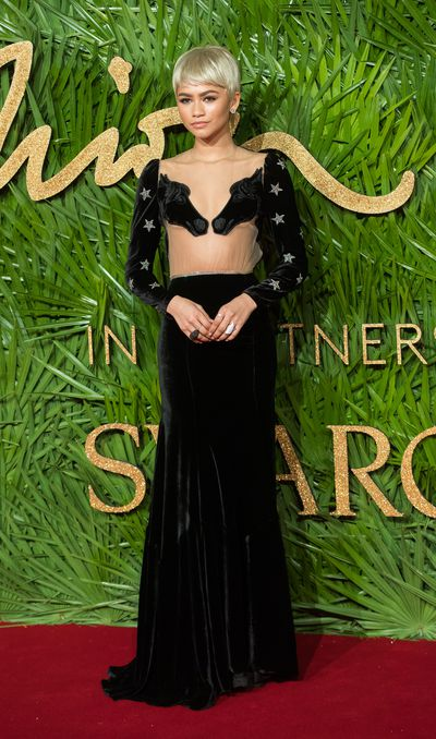 Zendaya attends The Fashion Awards 2017 in partnership with Swarovski at Royal Albert Hall on December 4, 2017 in London, England.