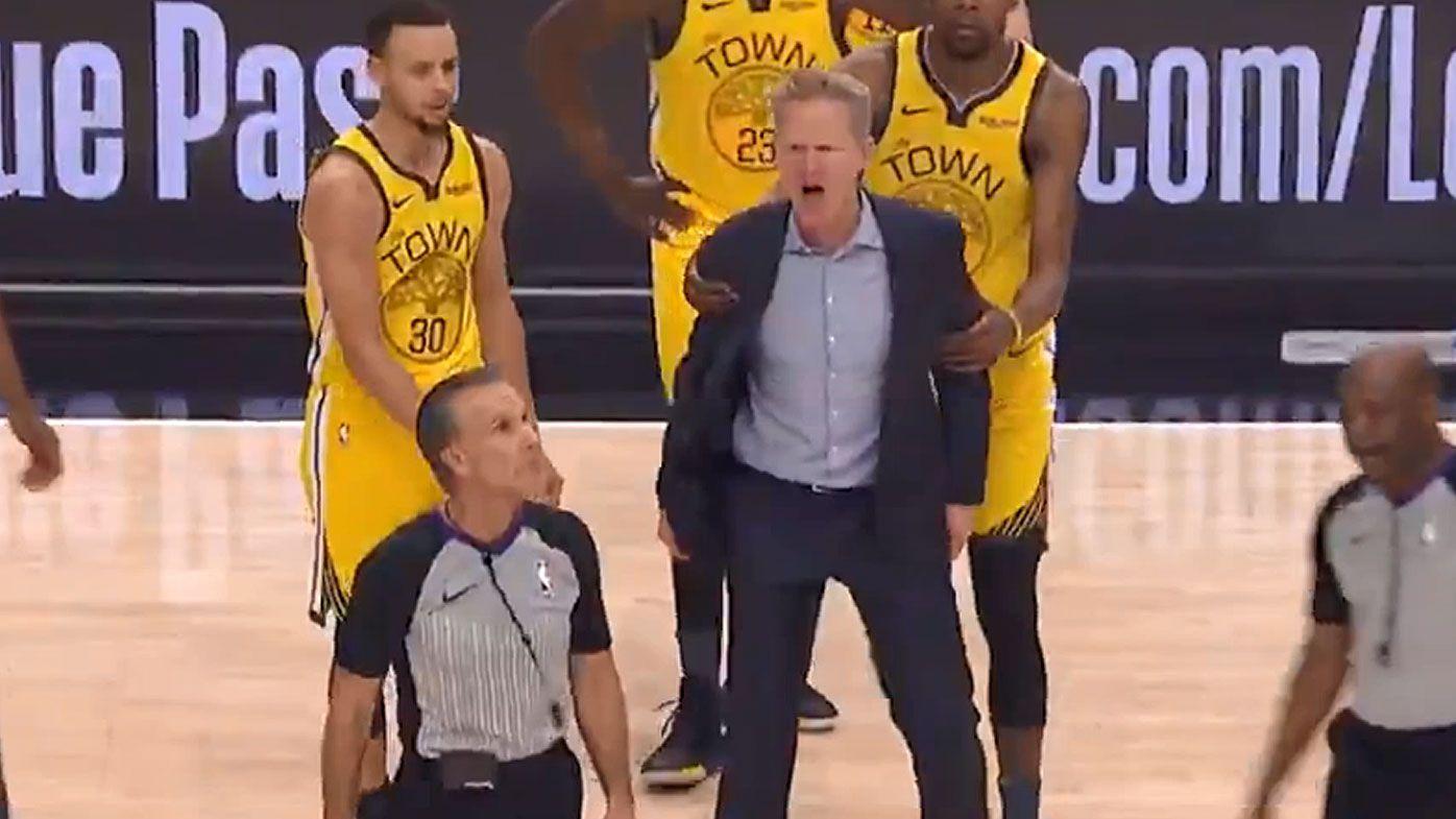 Steve Kerr erupts at officials