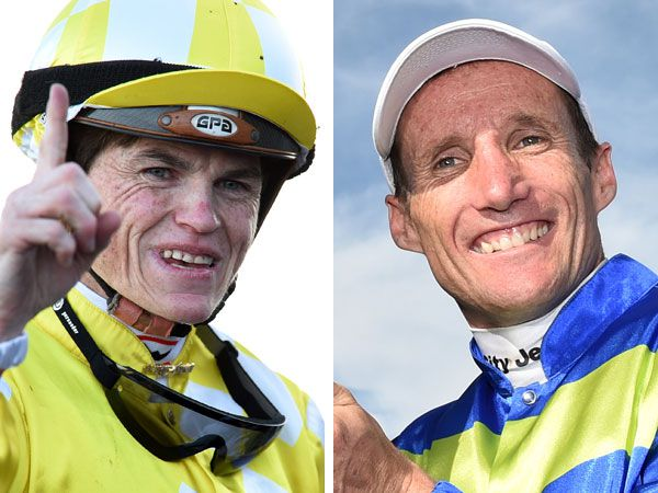 Craig Williams and Damien Oliver. (AAP)