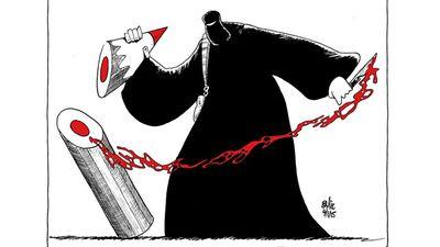 Vagelis Papavasiliou, Russian cartoonist