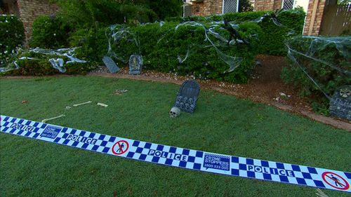 Police are searching for three men seen running from the scene. (9NEWS)