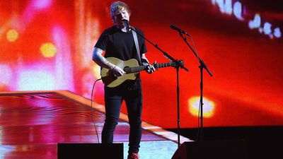 Ed Sheeran performs. (Getty)