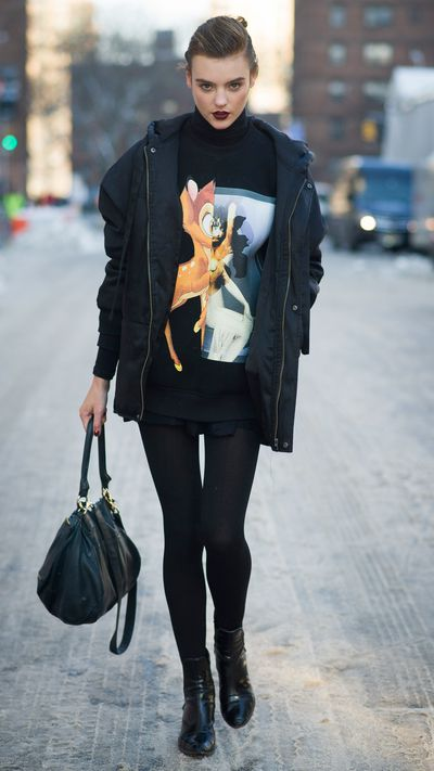 <p>Be tight with tights</p>