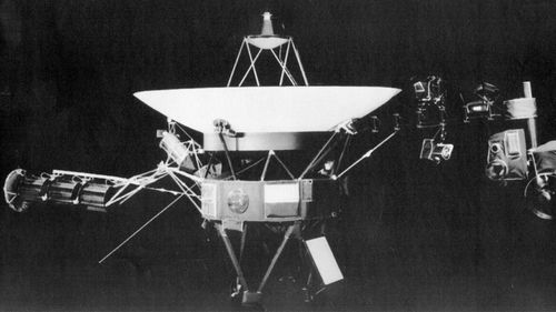 A 1981 handout photo from the Jet Propulsion Lab of the Voyager spacecraft.