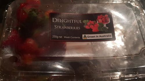 On Thursday Queensland police announced they were investigating a suspected copycat incident after a metal rod was discovered on top of strawberries inside a plastic punnet at a Coles in Gatton.