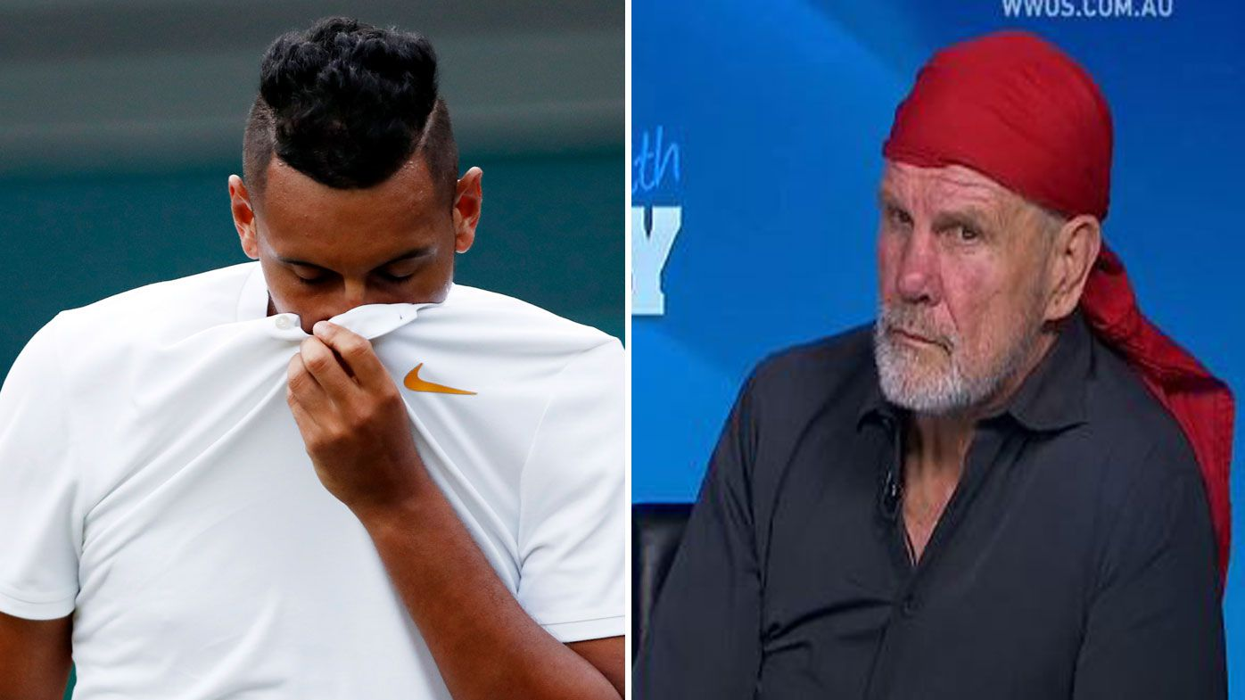 Nick Kyrgios has been slammed by Peter FitzSimons.
