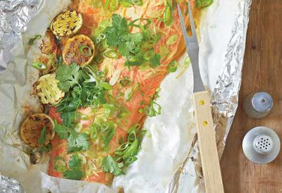 Barbecue ocean trout