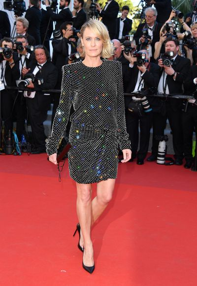 Actress Robin Wright in Saint Laurent at the 2017 Cannes Film Festival