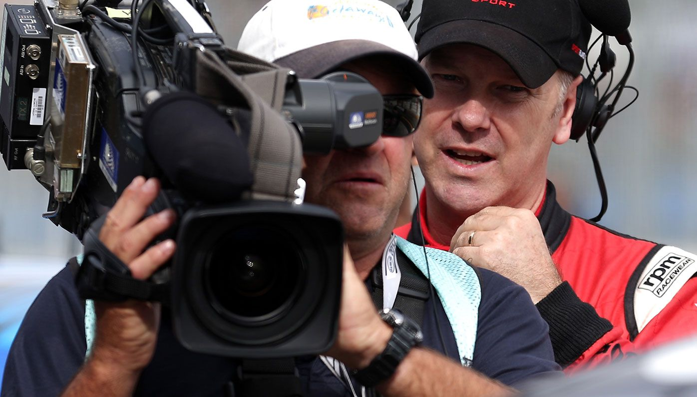 Mark Larkham (right) has been axed from the Supercars TV coverage.