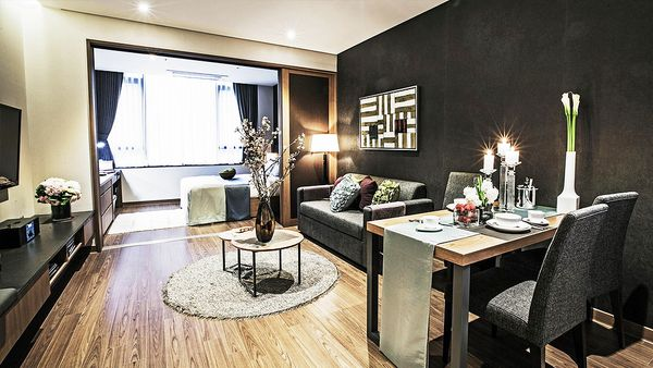 Fraser Place Namdaemun room living area (supplied)