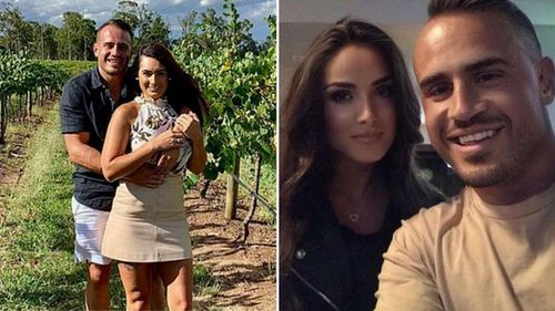 Josh Reynolds and his now-estranged girlfriend Arabella Del Busso.