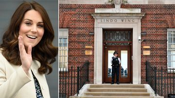 Duchess of Cambridge in labour with third baby