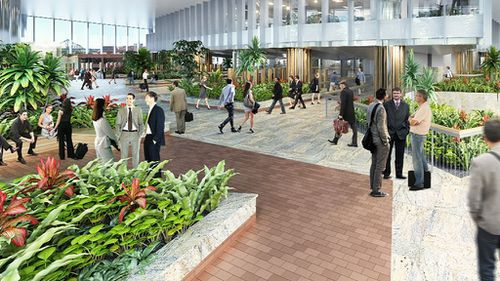 Hobbs Park will feature sandstone floors and lush scenery. (9NEWS)