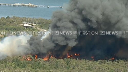 An emergency warning has been issued for Crib Point and surrounding areas. (9NEWS)