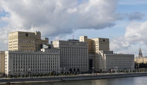 The National Defence Control Centre in Moscow, to which the Israeli ambassador was invited to explain his country's actions in Syrian air space.