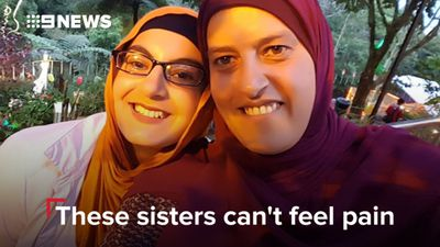 No feelings of pain, cold or heat: Victoria sisters suffer from one-in-a-million disorder