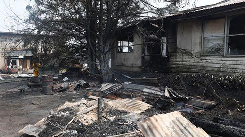 Burnt property in Berambing.