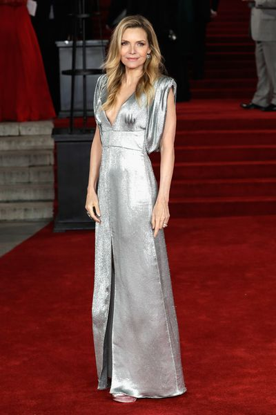<p>Michelle Pfeiffer looked undeniably incredible at the London premiere of Murder on the Orient Express on the weekend. </p> <p>The Academy-Awardshone on the red carpet in a liquid silver Prada gown with a deep V-neck and a slit in the middle, which she complemented with  minimal makeup and loose waves.</p> <p>Pfeiffer's disco ball-inspired gown proved that not only is she capable of still ruling a red carpet at age 59, but  that there is no age limit when it comes to rocking a head-to-toe glitter look.</p> <p>Glitter has been the standout trend this year on the runways where disco balls descended balls on the toes of models at Chanel, Miu Miu and Yves Saint at Paris Fashion Week in March.</p> <p>And with renowned makeup artists such as Pat McGrath and Val Garland bringing glitter into the beauty bag with sparkly lips and shimmery eyelids, this isn't a trend that is exclusive to the wardrobe.</p> <p>Click through to inject some sparkle to your life with some of our favourite glitter pieces that you need to invest in this Spring.</p>