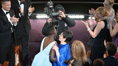 That's why - Minnelli wanted to give the young actress a hug for her win (Getty).