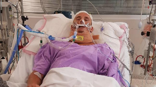 Mr Prime is fighting for life at Gold Coast University Hospital. (Supplied)