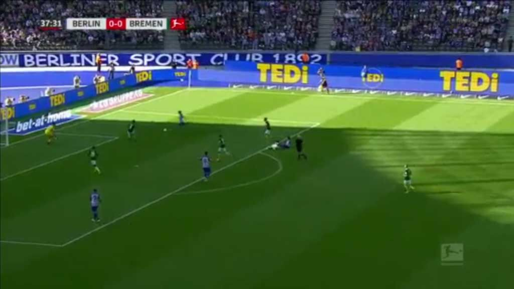 Leckie scores for Hertha Berlin