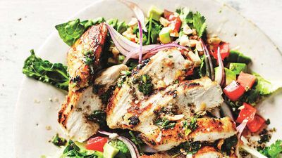 "Recipe: <a href=""http://kitchen.nine.com.au/2017/06/06/16/04/anjum-anand-griddled-chopped-chicken-salad"" target=""_top"">Anjum Anand's griddled chopped chicken salad</a>"