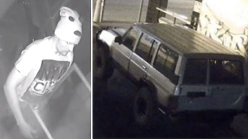 Police have released images of a man and a 4WD as they investigate the Richmond fire. (Victoria Police)