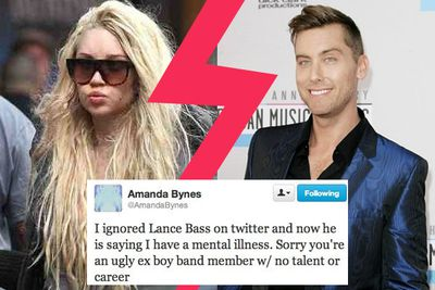 Lance Bass tried to reach out to Amanda and was shot down in a ball of flames.
