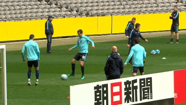 Socceroos prepare for test against Japan