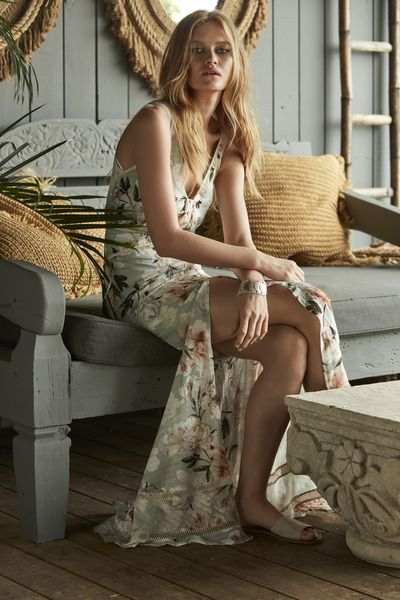 "<strong><a href=""https://wearekindred.com.au/collections/new-arrivals/products/magnolia-blouson-dress-in-sage-tigerlily"" target=""_blank"">We Are Kindred</a></strong> magnolia dress, $390<br />"