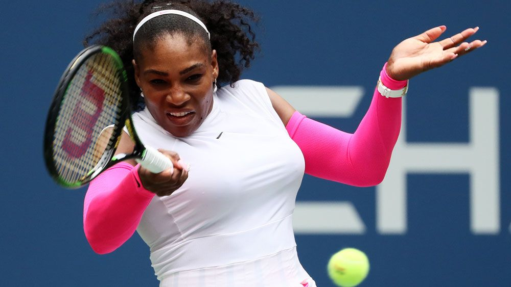 Serena Williams moved into the last 16 with a straight sets victory over Sweden's Johanna Larsson at the US Open.(Getty)
