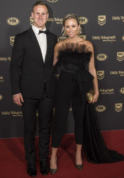 Dale Cherry-Evans and Vessa Rockliff at the 2019 Dally M Medal