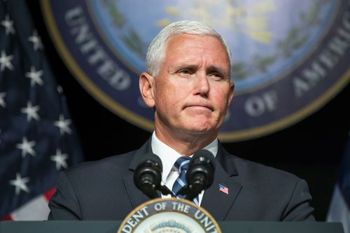 Mr Pence said the 'United States Space Force' will be operated by the military and operational by 2020. Picture: AAP.