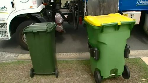 Ipswich residents may have their yellow recycling bin removed if they repeatedly contaminate it with rubbish. (9NEWS)
