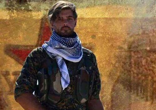 Gold Coast man Reece Harding died after stepping on a landmine while fighting with the Kurdish YPG battling to defeat Islamic State. (AAP)