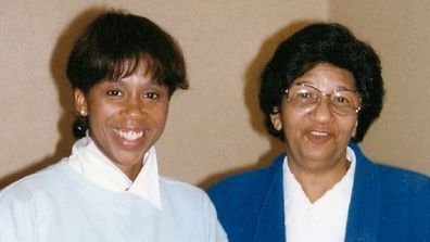 Trisha Goddard with her late mother