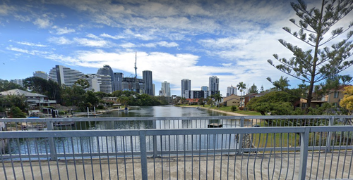 A man's body has been found in a Gold Coast canal.