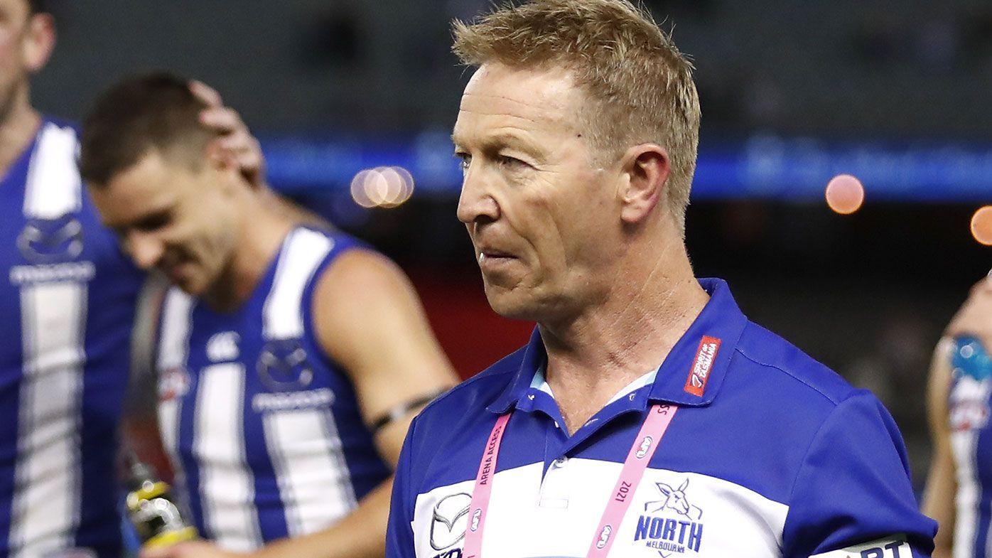 Senior coach David Noble of the Kangaroos