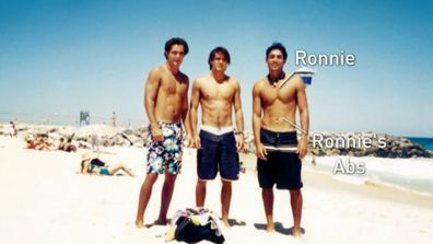Ronnie from The Block 2021 in his Beach Volleyball days