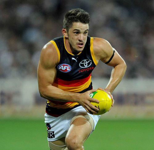 Matthew Jaensch playing for Adelaide. (AAP)