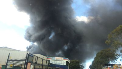 Firefighters were on site for some hours after the initial blaze to put out hotspots (9NEWS)